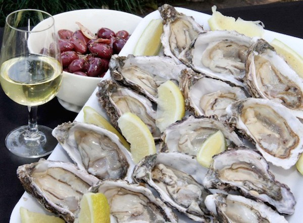 Oysters-Wine-Olives