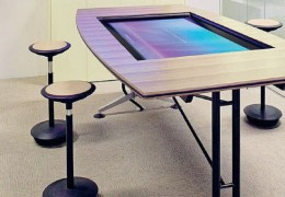 State-of-the-art Touchscreen conference tables by Wilkhakhn