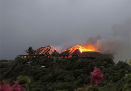 Richard Branson's Necker Island Fire